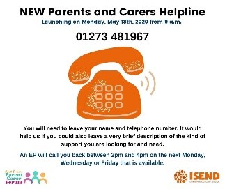 SEND Parents and Carers Helpline