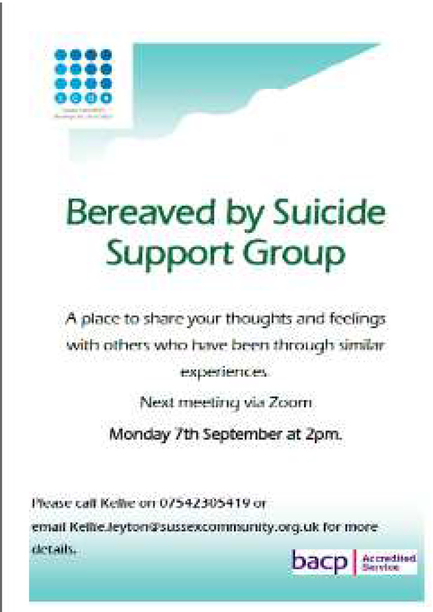 Bereaved by Suicide Support Group