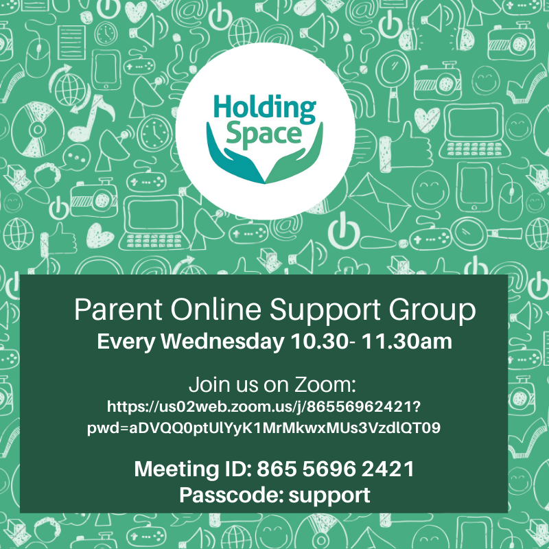 Holding Space – Parent Online Support Group