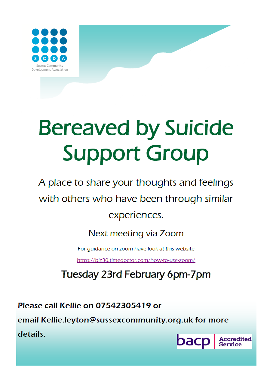 SCDA – Bereaved by Suicide Support Group