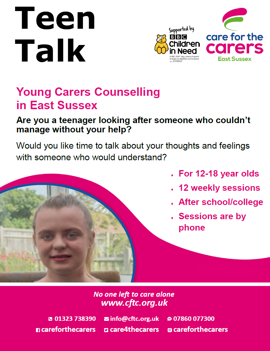 Teen Talk – Young Carers Counselling in East Sussex
