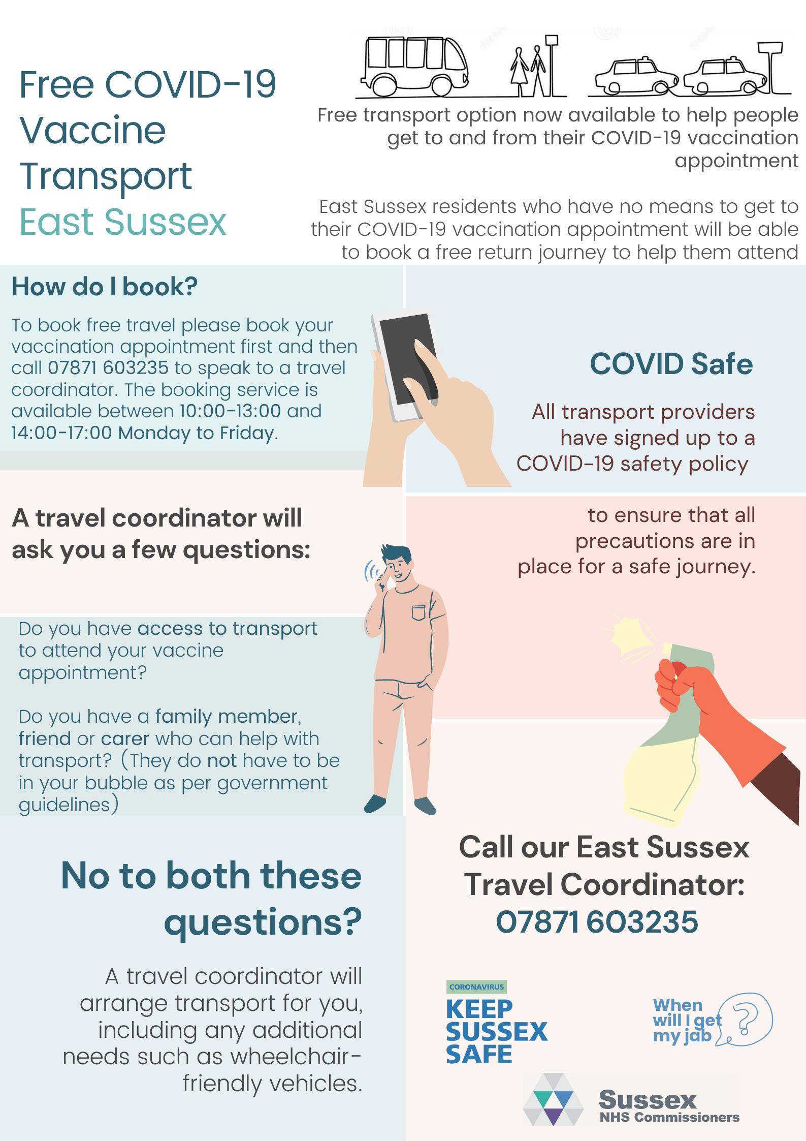 Free COVID-19 Vaccine Transport