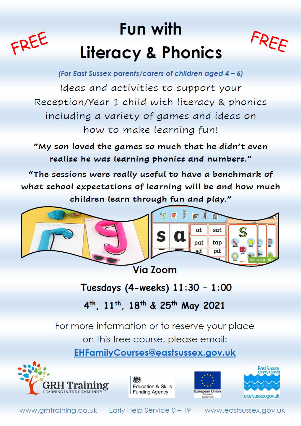 GRH Training – Fun with Literacy & Phonics