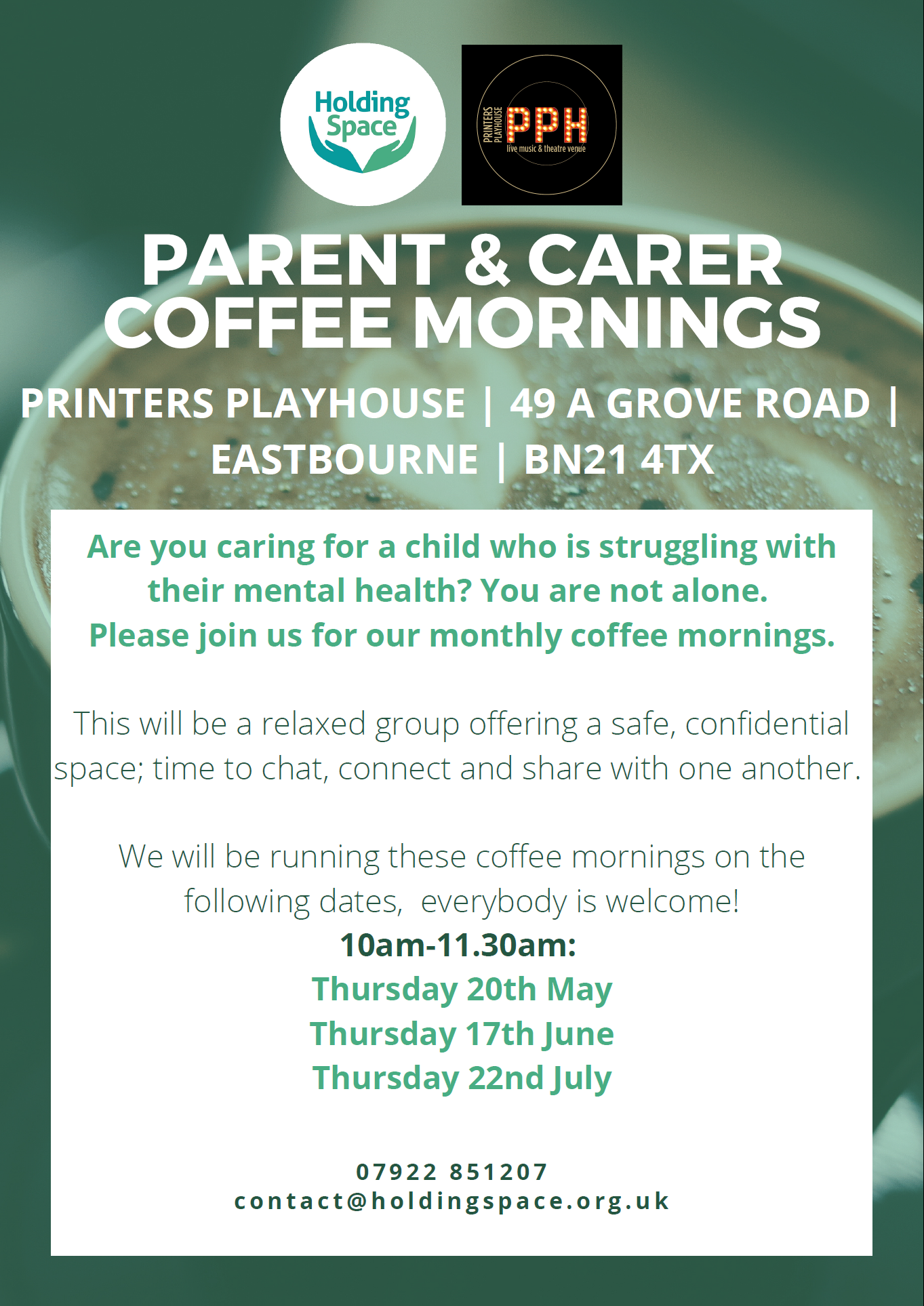 Holding Space – Parents and Carer Coffee Mornings