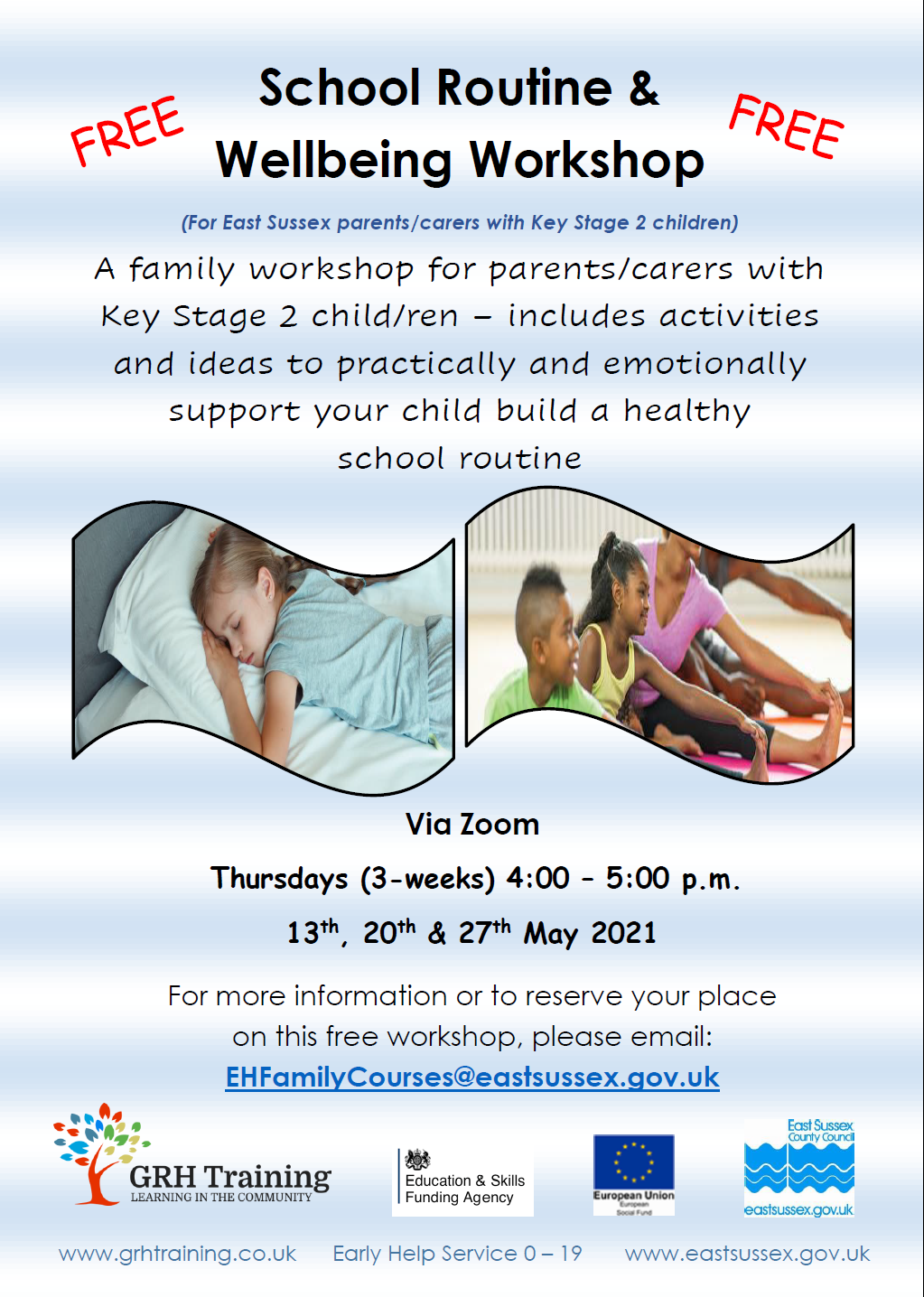 GRH Training – School Routine/Wellbeing Workshop KS2