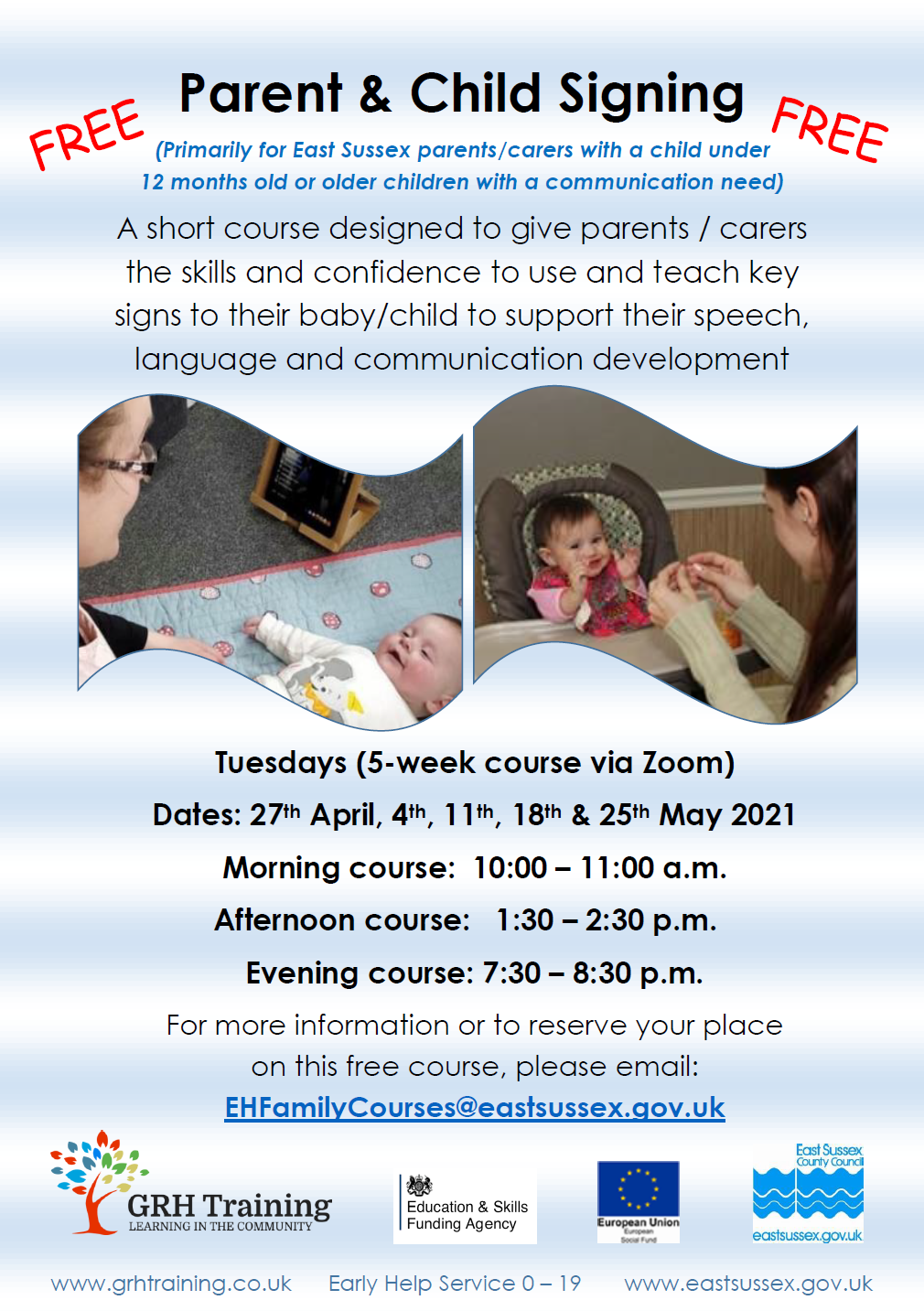 GRH Training – Parent & Child Signing